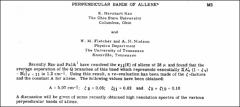 Thumbnail of PERFENDICULAR BANDS OF $ALLENE^{*}$
