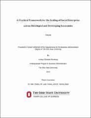 A Practical Framework for the Scaling of Social Enterprise