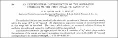 Thumbnail of AN EXPERIMENTAL DETERMINATION OF THE OSCILLATOR STRENGTH OF THE FIRST NEGATIVE BANDS OF $N_{2}^{+}$