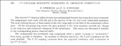 Thumbnail of $C^{13}$--NUCLEAR MAGNETIC SHIELDING IN AROMATIC COMPOUNDS