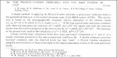 Thumbnail of THE FRANCK-CONDON PRINCIPLE AND THE 3600$^{\circ}$ SYSTEM OF $CIO_{2}{^{*}}$