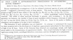 Thumbnail of HIGH J-LOW K APPROXIMATION PROCEDURES IN ASYMMETRIC ROTOR $THEORY^{*}$