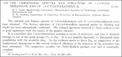 Thumbnail of THE VIBRATIONAL SPECTRA AND STRUCTURE OF 1,4-CYCLOHEXADIENE AND OF 1,4-CYCLOHEXADIENE-$d_{8}$