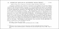 Thumbnail of ASYMPTOTIC METHODS IN ASYMMETRIC ROTOR $THEORY^{*}$