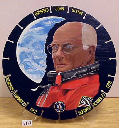 Space Shuttle Discovery Astronaut John Glenn Mission STS-95 Silver Halide Photo