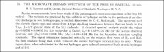 Thumbnail of THE MICROWAVE ZEEMAN SPECTRUM OF THE FREE SH RADICAL