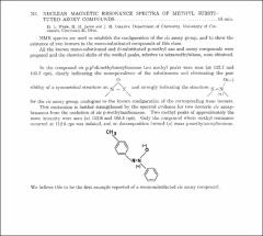 Thumbnail of NUCLEAR MAGNETIC RESONANCE SPECTRA OF METHYL SUBSTITUTED AZOXY COMPOUNDS