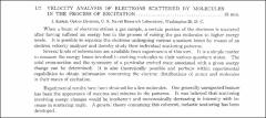 Thumbnail of VELOCITY ANALYSIS OF ELECTRONS SCATTERED BY MOLECULES IN THE PROCESS OF EXCITATION