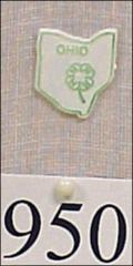 Thumbnail of 4-H pin with clover drawing