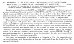 Thumbnail of PROGRESS IN THE ROTATIONAL ANALYSIS OF TRIPLY DEGENERATE FUNDAMENTAL BANDS OF TETRAHEDRAL $XY_{4}$ MOLECULES