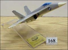 Thumbnail of 1/60th scale model of a McDonnell Douglas F-18 aircraft with U.S. Marine Corps markings