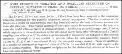 Thumbnail of SOME EFFECTS OF VIBRATION AND MOLECULAR STRUCTURE ON INTERNAL ROTATION IN $CH_{2}DSH$ AND $CHD_{2}SH$
