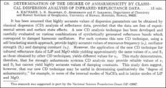 Thumbnail of DETERMINATION OF THE DEGREE OF ANHARMONICITY BY CLASSICAL DISPERSION ANALYSIS OF INFRARED REFLECTANCE DATA