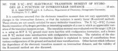 Thumbnail of THE $X^{1}\Sigma^{+}_{g}-B^{1}\Sigma^{+}_{g}$ ELECTRONIC TRANSITION MOMENT OF HYDRO GEN AS A FUNCTION OF INTERNUCLEAR DISTANCE