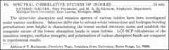 Thumbnail of SPECTRAL, CORRELATIVE STUDIES OF INDOLES