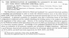 Thumbnail of THE DETERMINATION OF BARRIERS TO LINEARITY IN NOF, NOCl, AND NOBr FROM INFRARED SPECTRAL DATA