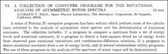Thumbnail of A COLLECTION OF COMPUTER PROGRAMS FOR THE ROTATIONAL ANALYSIS OF ASYMMETRIC ROTOR SPECTRA