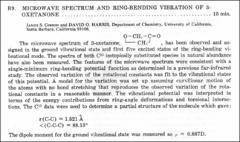 Thumbnail of MICROWAVE SPECTRUM AND RING-BENDING VIBRATION OF 3-OXETANONE