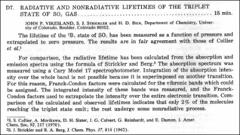 Thumbnail of RADIATIVE AND NONRADIATIVE LIFETIMES OF THE TRIPLET STATE OF $SO_{2}$ GAS
