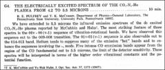 Thumbnail of THE ELECTRICALLY EXCITED SPECTRUM OF THE $CO_{2}-N_{2}-He$ PLASMA FROM 4.2 TO 5.5 MICRONS