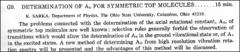 Thumbnail of DETERMINATION OF $A_{O}$ FOR SYMMETRIC TOP MOLECULES
