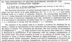 Thumbnail of THE DESCRIPTION OF EXCITED ELECTRONIC STATES BY CONFIGURATION INTERACTION THEORY