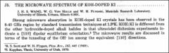 Thumbnail of THE MICROWAVE SPECTRUM OF KOH-DOPED KI.....