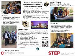 STEP Leadership Project: University of Colorado's Pre-Med