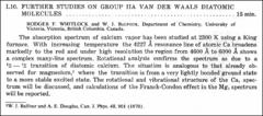 Thumbnail of FURTHER STUDIES OF GROUP HA VAN DER WAALS DIATOMIC MOLECULES