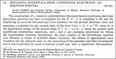 Thumbnail of REPULSIVE POTENTIALS FROM CONTINUOUS ELECTRONIC ABSORPTION SPECTRA