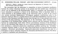 Thumbnail of HERZBERG-TELLER THEORY AND THE DUSCHINSKY EFFECT