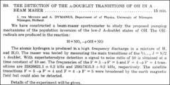 Thumbnail of THE DETECTION OF THE A-DOUBLET TRANSITIONS OF OH IN A BEAM MASER