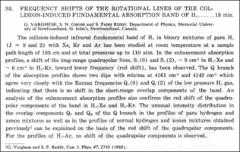 Thumbnail of FREQUENCY SHIFTS OF THE ROTATIONAL LINES OF THE COLLISION-INDUCED FUNDAMENTAL ABSORPTION BAND OF $H_{2}$