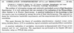 Thumbnail of CORRELATION INTERFEROMETRY AT $0.1  cm^{-1}$ RESOLUTION