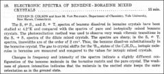 Thumbnail of ELECTRONIC SPECTRA OF BENZENE-BORAZINE MIXED CRYSTALS
