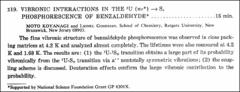 Thumbnail of VIBRONIC INTERACTIONS IN THE $^{3} U$ ($n\pi^{*}$) $\leftarrow$ $S_{o}$ PHOSPHORESCENCE OF $BENZALDEHYDE^{*}$