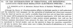Thumbnail of ON THE DETERMINATION OF VIBRATIONAL AND ROTATIONAL CONSTANTS FROM HIGH RESOLUTION ELECTRONIC SPECTRA