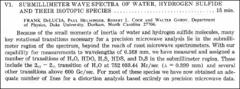 Thumbnail of SUBMILLIMETER WAVE SPECTRA OF WATER, HYDROGEN SULFIDE AND THEIR ISOTOPIC SPECIES