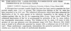 Thumbnail of TIME-RESOLVED LASER-EXCITED FLUORESCENCE AND PHOSPHORESCENCE IN GLYOXAL VAPOR