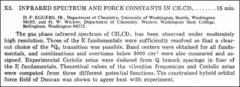 Thumbnail of INFRARED SPECTRUM AND FORCE CONSTANTS IN $CH_{3}CD$