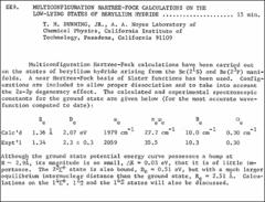 Thumbnail of MULTICONFIGURATION HARTREE-FOCK CALCULATIONS ON THE LOW-LYING STATES OF BERYLLIUM HYDRIDE