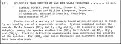 Thumbnail of MOLECULAR BEAM STUDIES OF VAN DER WAALS MOLECULES