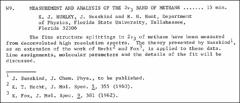 Thumbnail of MEASUREMENT AND ANALYSIS OF THE $2\nu_{3}$ BAND OF METHANE