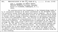 Thumbnail of PREDISSOCIATION OF THE $B^{3}\Sigma^{-}_{u}$ STATE OF $O_{2}$