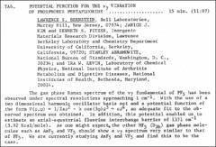 Thumbnail of POTENTIAL FUNCTION FOR THE $\nu_{7}$ VIBRATION OF PHOSPHORUS PENTAFLUORIDE