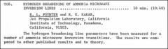 Thumbnail of HYDROGEN BROADENING OF AMMONIA MICROWAVE INVERSION LINES