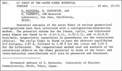 Thumbnail of CI STUDY OF THE WATER DIMER POTENTIAL SURFACE