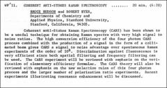 Thumbnail of COHERENT ANTI-STOKES RAMAN SPECTROSCOPY