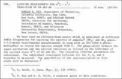 Thumbnail of LIFETIME MEASUREMENTS FOR $d^{1}\Sigma - c^{1}\Pi$ TRANSITION OF NH AND ND