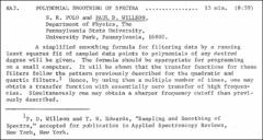 Thumbnail of POLYNOMIAL SMOOTHING OF SPECTRA